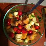 Panzanella with homemade foccacia