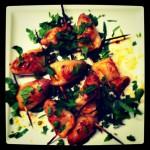 Chorizo stuffed squid with lemon and parsley