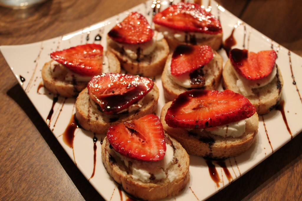 Balsamic & Strawberry Crostinis